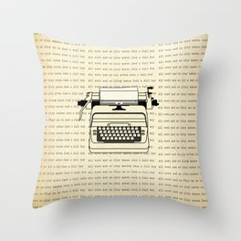 All work and no play II Throw Pillow