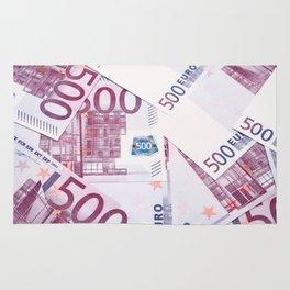 500 Euros bills Rug