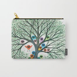 Teton Owls in Tree Carry-All Pouch