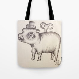 Wind Up Hippo Tote Bag