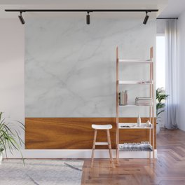 Marble and Wood 2 Wall Mural