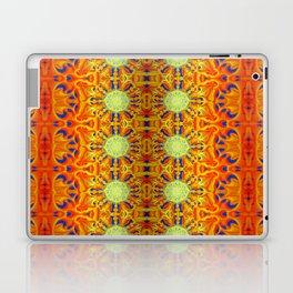 B Bloom Pattern Orange Laptop & iPad Skin