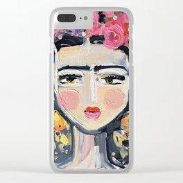 Fine Frida Clear iPhone Case