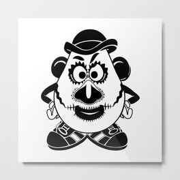 Mr. Potato Head Sugar Skulled! Metal Print