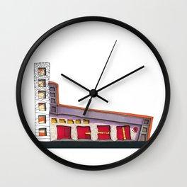 Geometric Architectural Design Illustration 99 Wall Clock