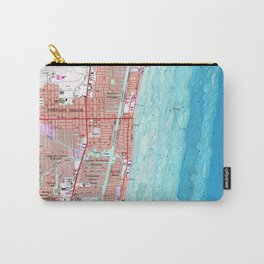 Vintage Map of Pompano Beach Florida (1962) Carry-All Pouch