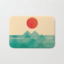The ocean, the sea, the wave Bath Mat