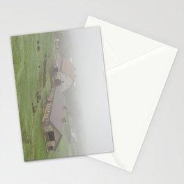 Foggy Oregon Barn Landscape Stationery Cards