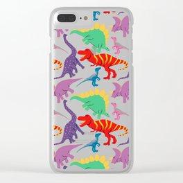 Dinosaur Domination - Dark Clear iPhone Case