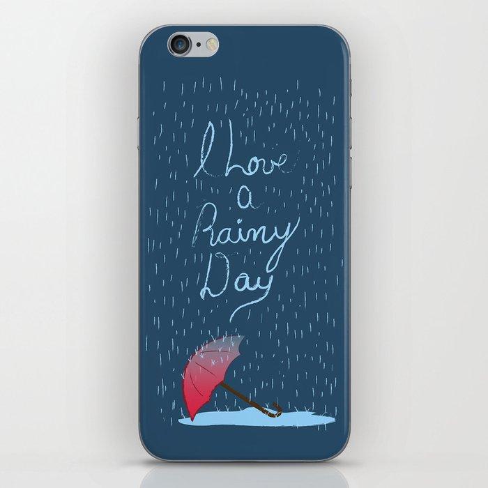 Love Rainy Days iPhone Skin