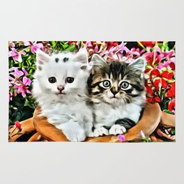 TWO CUDDLY KITTENS Rug