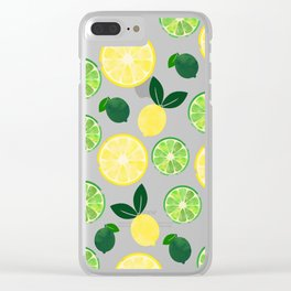 Lemon Lime Clear iPhone Case
