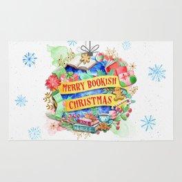 Merry Bookish Christmas Rug
