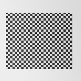 Classic Black and White Race Check Checkered Geometric Win Throw Blanket