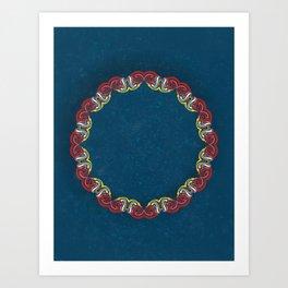 Complex Lai Thai Wreath V4 Art Print
