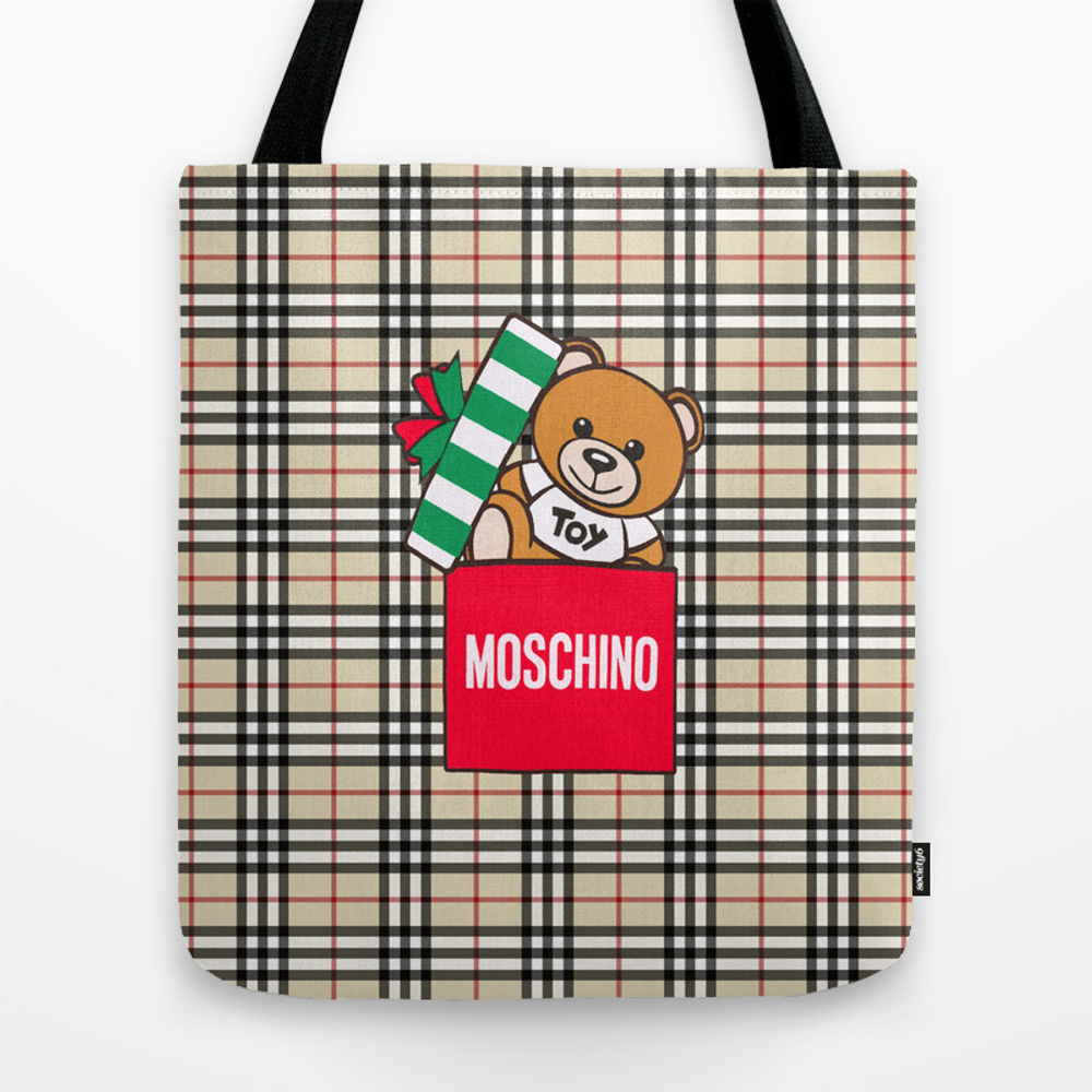 Moschino Burbery Tote Bag by Customculture TBG8758785