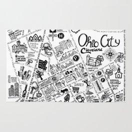 Ohio City Map Rug