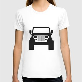 JEEP [YJ] Black and White T-shirt