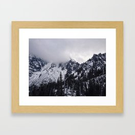 Lofty Mountain Grandeur Framed Art Print