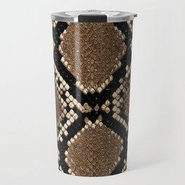 Faux Python Snake Skin Design Travel Mug