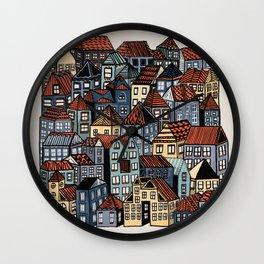 Little Town Wall Clock