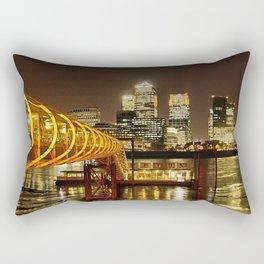 London, Piers of Docklands Hilton Rectangular Pillow
