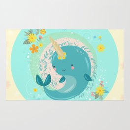 Pretty Princess Narwhal Rug