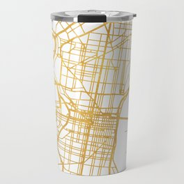 PHILADELPHIA PENNSYLVANIA CITY STREET MAP ART Travel Mug