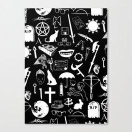 Buffy Symbology, White Canvas Print