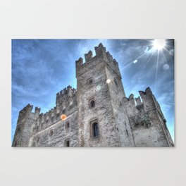 Sirmione castle Canvas Print
