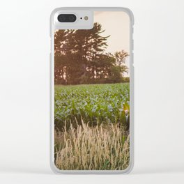 Sunsets and Corn Fields Clear iPhone Case