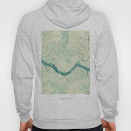 Seoul Map Blue Vintage Hoody