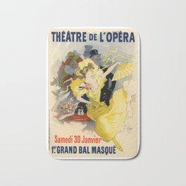 Belle Epoque vintage poster, French Theater, Theatre de L'Opera Bath Mat