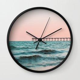Beach Pier Sunrise Wall Clock