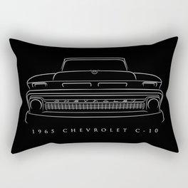 1965 Chevy C-10 Pickup - Stencil Rectangular Pillow