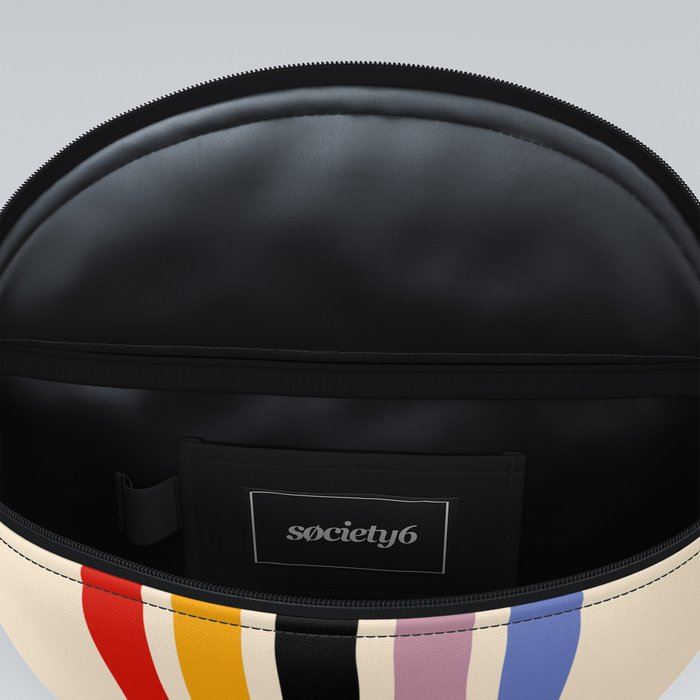 Colorful Retro Stripes Beige III Fanny Pack