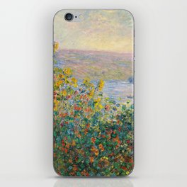 1881-Claude Monet-Flower Beds at Vétheuil-73 x 92 iPhone Skin