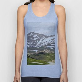 Italian mountain landscape Unisex Tank Top