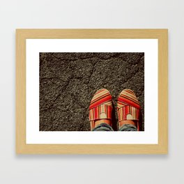 Shoes on Cement Framed Art Print