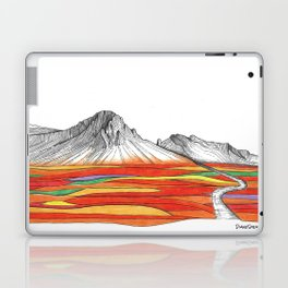 Mountain Landscape Contemporary Art, Mountain drawing, Modern Art, nature , Abstract Art, Mountains Laptop & iPad Skin