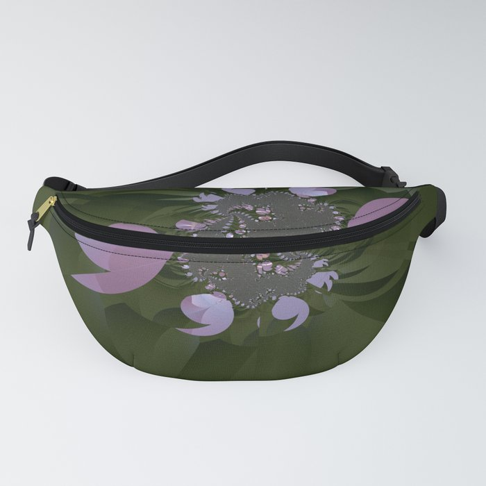 A plastic shiny bloom of a fractal plant Fanny Pack