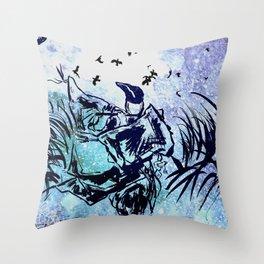 Calls The Ravens Throw Pillow