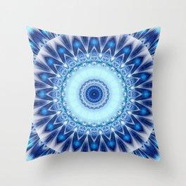 Mandala Iceblue Throw Pillow