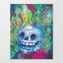 Mayan Skull Canvas Print