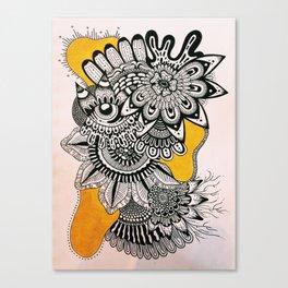 BLK+YLO Canvas Print