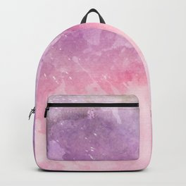Pink Watercolor Texture Backpack