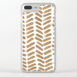 Gold Chevron Clear iPhone Case