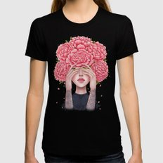 I don't see LARGE Womens Fitted Tee Black