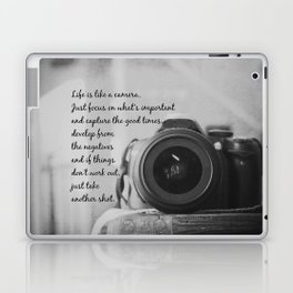 Life is Like a Camera Laptop & iPad Skin