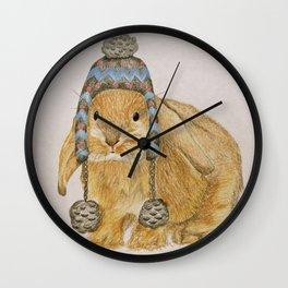 Winter Bunny Wall Clock